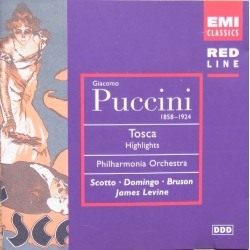 Puccini: Tosca i uddrag. Renata Scotto, Placido Domingo, Renato Bruson. Philharmonia Orchestra. James Levine. 1 CD. EMI.