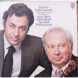 Johannes Brahms: Violin Concerto. Isaac Stern, Zubin Mehta, New York Philharmonic Orchestra. 1 LP. CBS. 76836