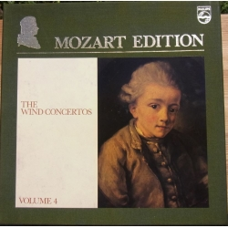 Mozart Edition vol. 4. Komplette blæsekoncerter. 4 LP Philips
