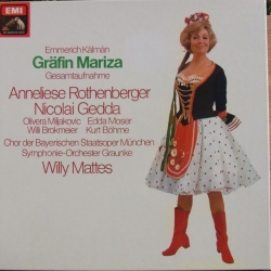 Kalman: Gräfin Mariza. Rothenberger, Gedda. Willy Mattes. 2 LP. EMI