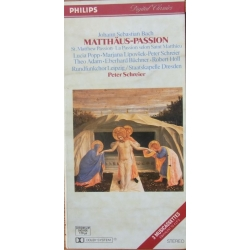 Bach: Matthaus-Passion. Popp, Liposek, Adam. Peter Schreier. 3 MC. Philips