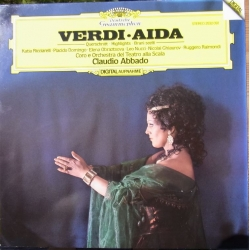 Verdi: Aida. in highlights. Claudio Abbado. Ricciarelli, Domingo, Obraztsova, Raimondi. La Scala. 1 LP DG. 2532092