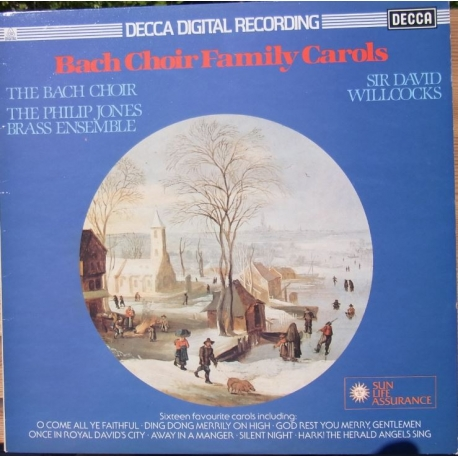 Bach Choir Family Carols. David Willcocks. 1 LP. Decca