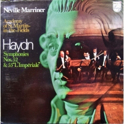 Haydn: Symfoni nr. 52 & 53. Neville Marriner, Academy of St. Martin in the Fields. 1 LP. Philips