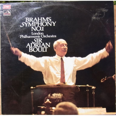 Brahms: Symfoni nr. 1. Sir Adrian Boult, London PO. 1 LP. ASD 2871