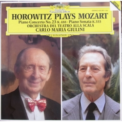 Horowtz plays Mozart. Klaverkoncert nr. 23. + Sonate K. 333. Giulini. 1 LP. DG