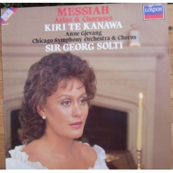 Handel: Messiah. Arier & kor. Georg Solti. Kiri te Kanawa, Gjevang, Chicago SO. 1 LP. Decca