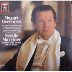 Mozart: Overtures. Neville Marriner, Academy of. St. Martin in the Fields. 1 LP. EMI