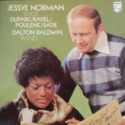Jessye Norman sings Duparc, Ravel, Poulenc, Satie. Dalton Baldwin. 1 LP. Philips