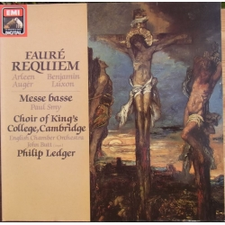 Faure: Requiem. Auger, Luxon, ECO & Choir of King's College. Philip Ledger 1 LP. EMI