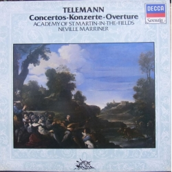 Telemann: Concertos and Overture. Neville Marriner, Academy of St. Martin in the fields. 1 LP. Decca