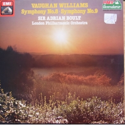 Vaughan-Williams: Symfoni nr. 8 & 9. Sir Adrian Boult, LPO. 1 LP. EMI