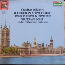 Vaughan Williams: Symfoni nr. 2. + Thomas Tallis fantasi. LPO. Adrian Boult. 1 LP. EMI