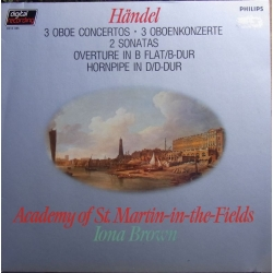 Handel: 3 Obokoncerter. Celia Nicklin, Neville Marriner, Academy. 1 LP Philips.