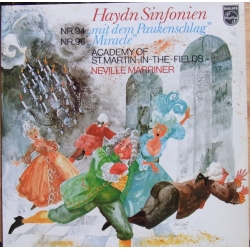 Haydn: Symfoni nr. 94 & 96. Neville Marriner, Academy of St. Martin in the Fields. 1 LP. Philips