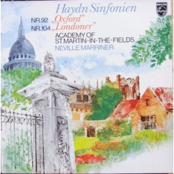 Haydn: Symfoni nr. 92 & 104. Neville Marriner, Academy of St. Martin in the Fields. 1 LP. Philips. 9500304