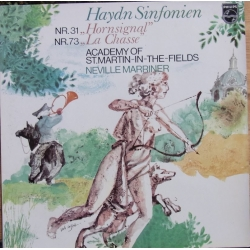 Haydn: Symfoni nr. 31 & 73. Neville Marriner, Academy of St. Martin in the Fields. 1 LP. Philips. 9500518