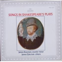 Songs in Shakespeares plays. James Bowman, James Tyler. 1 LP. Archiv. 2533407