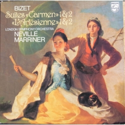 Bizet: Carmen & L'Arlesienne Suites. nos. 1 & 2. Neville Marriner, London SO. 1 LP Philips. 9500566