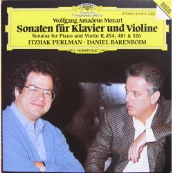 Mozart: Sonatas for Piano and violin. KV. 454, 481, 526. Itzhak Perlman, Daniel Barenboim. 1 CD. DG