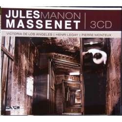 Jules Massenet: Manon. Pierre Monteux. Victoria de los Angeles, Henri Legay, Michel Dens. 3 CD. Membran. New Copy.