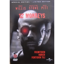 12 Monkeys. Bruce Willis, Brad Pitt, Madelline Stowe. 1 DVD