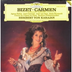 Bizet: Carmen in highlights. Baltsa, Carreras, Ricciarelli. Karajan. Berliner Philharmoniker. 1 LP. DG
