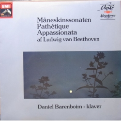 Beethoven: Måneskinssonaten Pathetique, Appassionate. Barenboim. 1 LP. EMI
