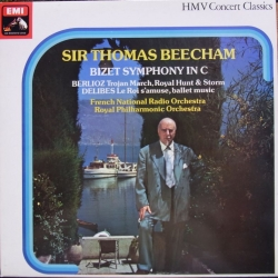 Bizet: Symphony in C. & Berlioz: Trojan March, Storm & Royal Hunt. Thomas Beecham, RPO. 1 LP. EMI. SXLP 30260. New Copy