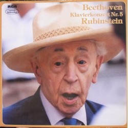 Beethoven: Piano Concerto no. 5. Artur Rubinstein, Eric Leinsdorf, Boston SO. (1963) 1 LP. RCA. RL 43656