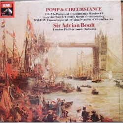 Elgar: Pomp and Circumstance, Imperial March. Sir Adrian Boult, LPO. 1 LP. EMI