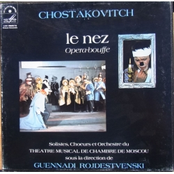 Dmitri Shostakovich: The Nose. Gennady Rozhdestvensky, Moscow Theater Orchestra and soloists. 2 LP. LCM