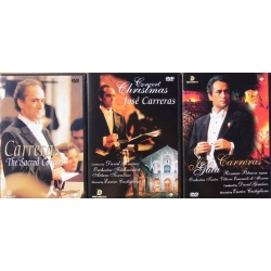 3 Jose Carreras DVD's. The Sacred concert, - Christmas Concerto, - Gala. 3 DVD. Pan Dream