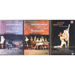 3 Ballet DVDs. Romeo and Juliet, - Raymonda, - Divine Dancers. 3 DVD