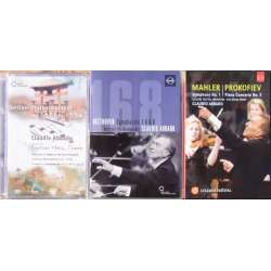 3 Claudio Abbado DVD's. Beethoven, - Mahler, - Prokofiev, - in Japan. 3 DVD