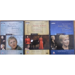 3 Voices of our time DVD's. Barbara Bonney, - Sylvia McNair, Anne Sofie von Otter. 3 DVD. TDK