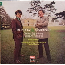 Munrow and Marriner. Telemann, Sammatini, Handel. 1 LP. EMI. ASD 3028