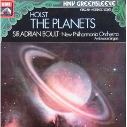 Holst: The Planets. Sir Adrian Boult, New Philharmonia Orchestra. 1 LP. EMI.