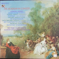The Academy in Concert. Marriner. Albinoni, Mendelssohn, Handel, Bach. 1 LP. EMI