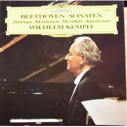 Beethoven: Pathetique - Moonlight -Appassionata. Wilhelm Kempff. 1 LP. DG. 139300