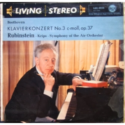 Beethoven: Piano Concerto no. 3. Artur Rubinstein. Josef Krips. Symphony of the Air Orchestra. 1 LP. RCA Living Stereo LSC 2122