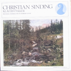 Christian Sinding: Piano pieces. Solo piano pieces and piano four hands. Kjell Bækkelund and Robert Levin. 1 LP. NKF. 30014