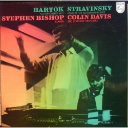 Bartok: Klaverkoncert nr. 2. & Stravinsky: Koncert for klaver og blæsere. Bishop, BBC SO. Colin Davis. 1 LP. Philips
