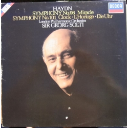 Haydn: Symfoni nr. 96 & 101. Georg Solti, London PO. 1 LP. Decca