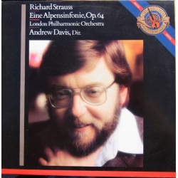 Strauss: Eine Alpensinfonie. Op. 64. Andrew Davis, London PO. 1 LP. CBS