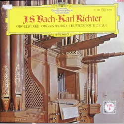 Bach: Organ Works. Preludium and Fugue., Trio Sonata No. 5 in C, Wachet auf, ruft uns die Stimme, Karl Richter. 1 LP. DG