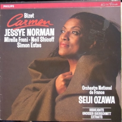 Bizet: Carmen in highlights. Jessye Norman, Freni, Estes. Seiji Ozawa. 1 LP. Philips