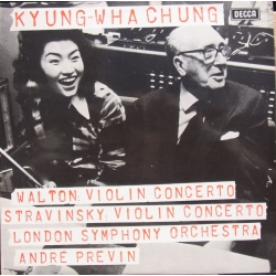 Stravinsky & Walton: Violinkoncerter. Kyung-Wha Chung, LSO. Andre Previn. 1 LP. Decca SXL 6601