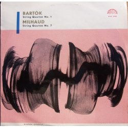 Bartok: String Quartet no. 1 & Milhaud: String Quartet no. 7. Dvorak Quartet. 1 LP. Supraphon.
