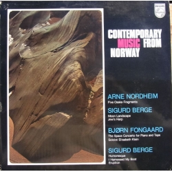 Contemporary music from Norway. Nordheim, Berge, Fongaard. 1 LP. Philips